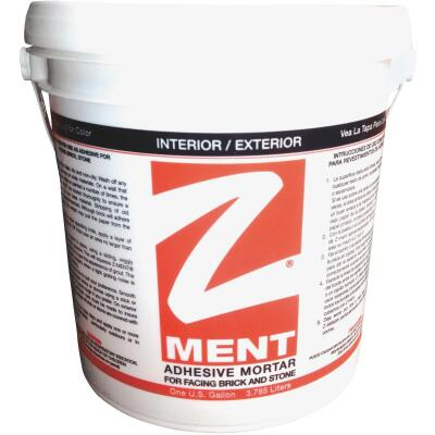 Z-MENT Natural Gray 1 Gal. Brick & Stone Adhesive Mortar