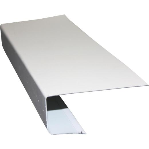 Klauer C Galvanized Steel Roof Edge Flashing with Hems, White