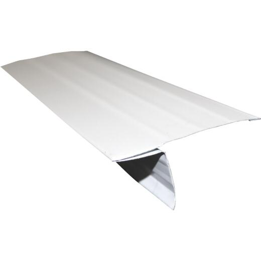Klauer D5 Galvanized Steel Roof Edge Flashing with Hems, White