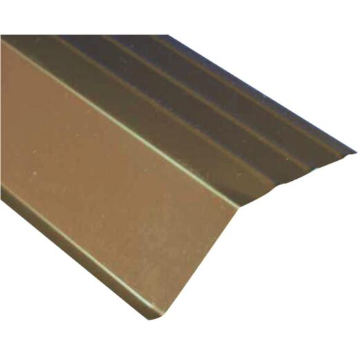 Amerimax 5 In. Galvanized Steel Roof Apron Flashing, Brown