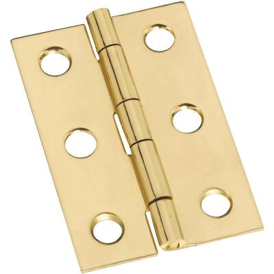 National 1-3/8 In. x 2 In. Brass Medium Decorative Hinge (2-Pack)