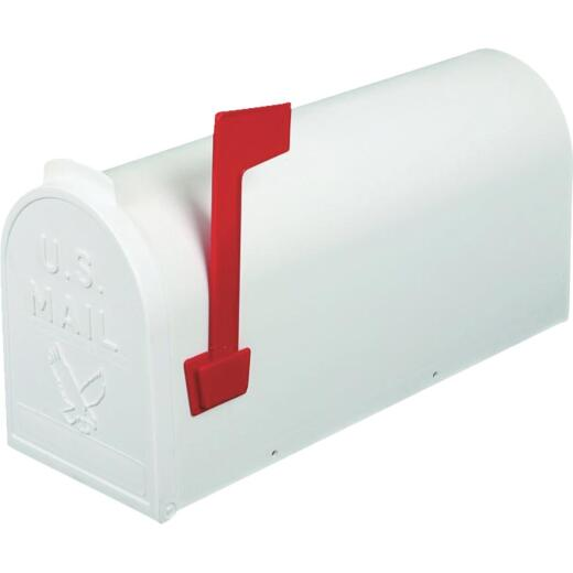 Flambeau No. 1 White Plastic Rural Post Mount Mailbox
