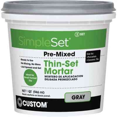 Custom Building Products SimpleSet Quart Gray Pre-Mixed Thin-Set Mortar