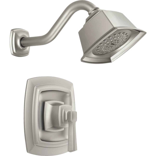 Moen Brushed Nickel 1-Handle Lever Shower Faucet