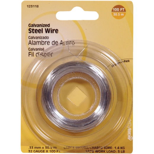 Hillman Fastener Corp 100 Ft. 32 Ga. Galvanized Steel Wire