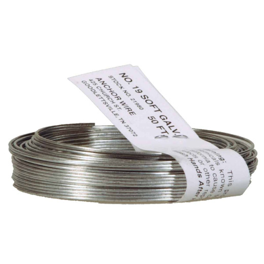 HILLMAN Anchor Wire 50 Ft. 18 Ga. Black StovePipe And Mechanics General-Purpose Wire