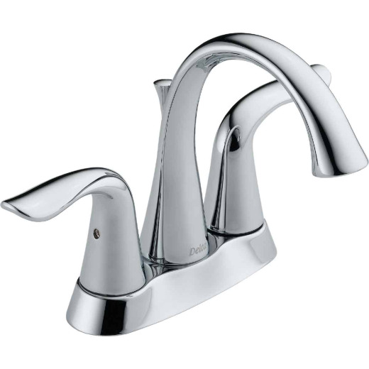 Delta Lahara Chrome 2-Handle Lever 4 In. Centerset Bathroom Faucet with Pop-Up