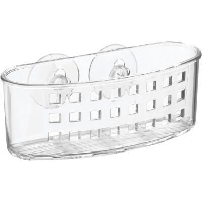 InterDesign Sinkworks Clear Suction Scrubber & Sponge Holder