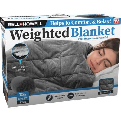 Bell+Howell 60 In. x 80 In. King 15 Lb. Weighted Blanket