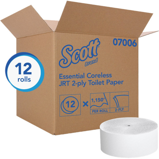 Scott Essential Jumbo Roll Coreless Toilet Paper (12 Rolls)