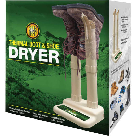 Shoe Gear High Country 11.1 In. H. Ivory Plastic Thermal Shoe & Boot Dryer