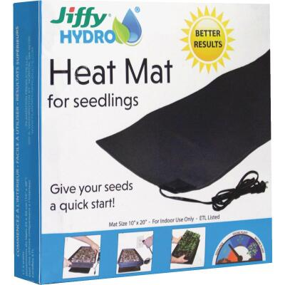 Jiffy Hydro 10 In. x 20 In. 17.5W Seedling Heat Mat