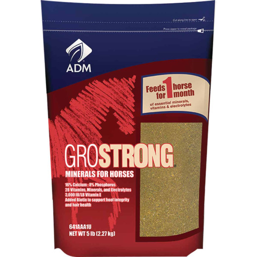 ADM GroStrong 5 Lb. Mineral Horse Feed Supplement