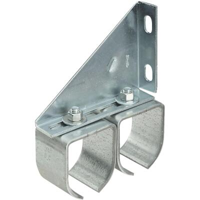 National Galvanized Double Round Rail Barn Door Bracket