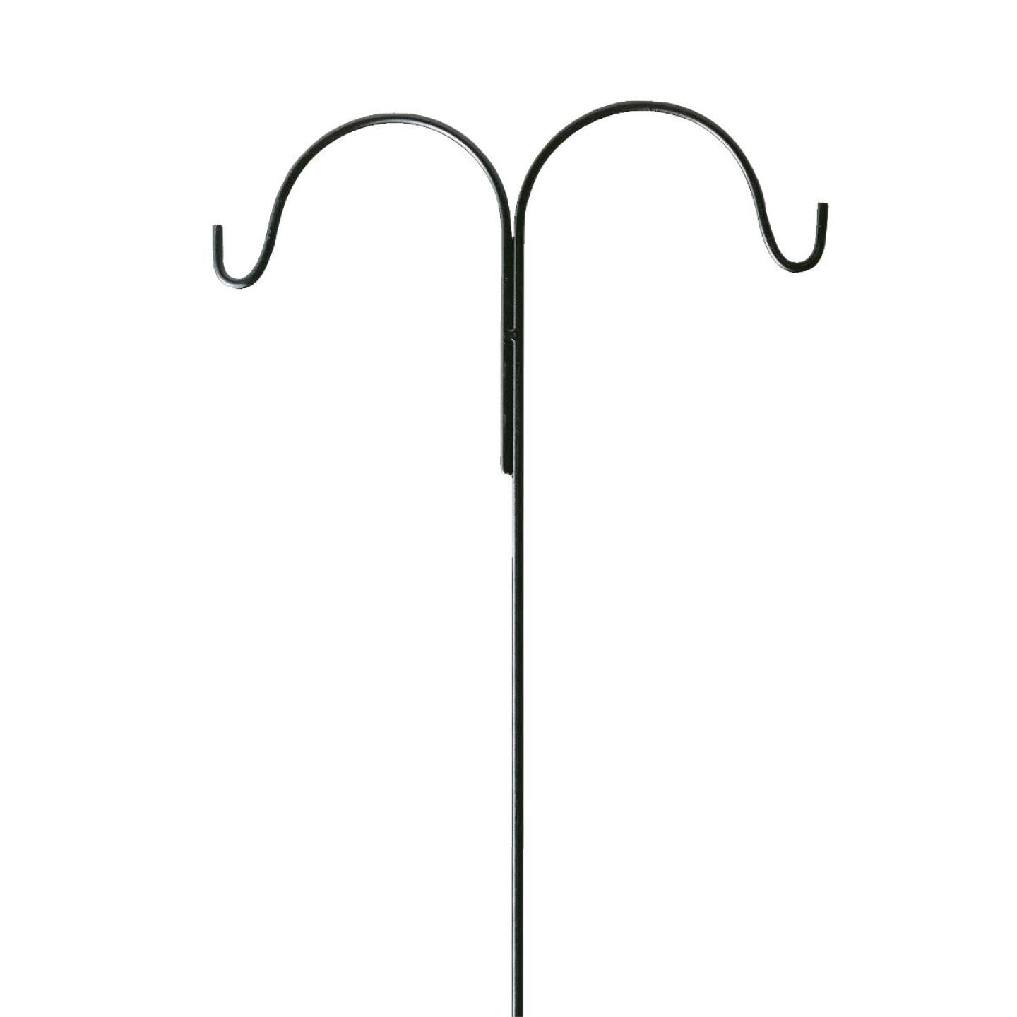 Best Garden 91 In. Black Wrought Iron Double Shepherd Hook Image 2