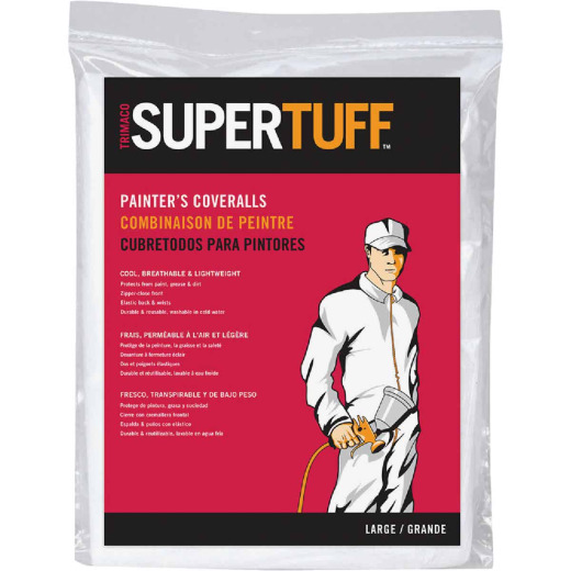 Trimaco SuperTuff Large Reusable Painter's Coveralls