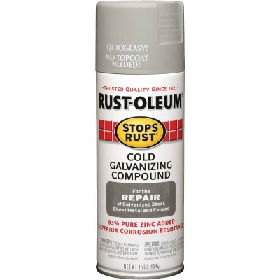 Rust-Oleum Stops Rust Gray Galvanized 16 Oz. Anti-Rust Spray Paint